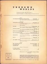 coverless pulp UNKNOWN WORLDS October 1942 - Robert Heinlein, Henry Kuttner