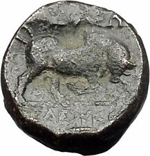 Seleukos I, Nikator  312BC Ancient Rare Greek Coin Medusa Protection Bull i47991