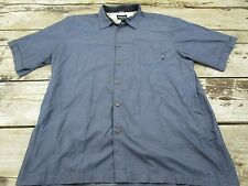 Billabong Men's Button Down Hawiian Shirt Aloha Fit Navy Blue Size XXL
