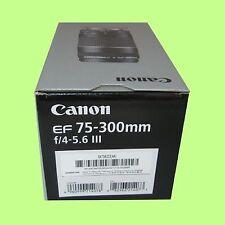 Nuevo Canon EF 75-300mm f/4-5.6 III teleobjetivo Zoom