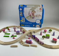 Bigjigs Fairy Train Set Complete w/ Extras Including Battery Pink Train Engine