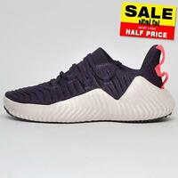 Adidas Alphabounce Women's Girls Running Shoes Fitness Gym Trainers Purple