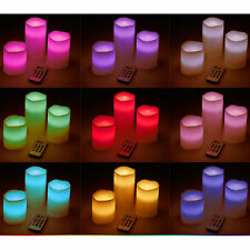 Luminara Flickering Moving Wick Flameless Pillar Candle Led Remote Set HU