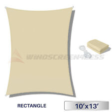 10x13' Waterproof Sun Shade Sail Uv Fabric Outdoor Canopy Patio Awning Cover
