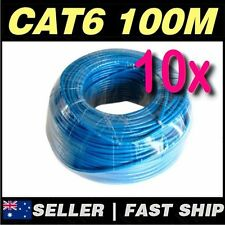 Blue 100m Cat6 UTP Solid CCA Core Network Ethernet LAN Cable Roll AU Stock