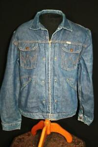 VERY RARE VINTAGE 1950'S-1960'S WRANGLER BLUE DENIM JACKET SIZE 42