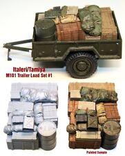 1/35 Italeri/Tamiya M101 Trailer Load #1 - Value Gear - Resin Cargo/Stowage