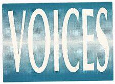 VOICES Rave Flyer Flyers A6 year unknown Burbanks Southampton George Washington