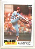 1984 TOPPS STEVE CARLTON HIGHLIGHT (NM/MT OR BETTER)*
