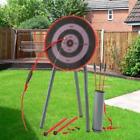 Garden Archery Set Game Outdoor Fun Bow Arrows Target Blow Pipe & Darts Party