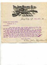 Vintage Illustrated Letterhead JOHN MULLINS GREAT FURNITURE STORE Jersey City NJ