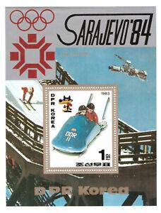 Korea 1983 1984 Olympic Sarajevo Yugoslavia bobsleigh mint sheet s/s MNH Mi 171