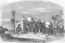 INDIA. Musjid remains, Palace of the Lion, Rajmahal, antique print, 1857