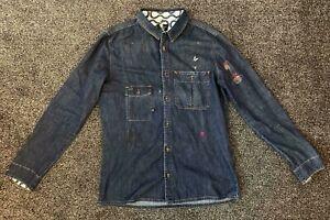 Men's Vivienne Westwood Anglomania Utility Festival Lee Denim Shirt, Size XL