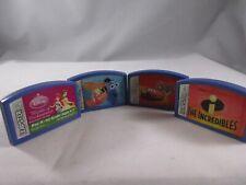 Lot of 4 Leapster Game Console Disney Pixar Princess Cars Educational Cartridges