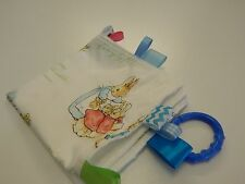Peter Rabbit Taggie Blanket Comforter Sensory Minkee Back Handmade