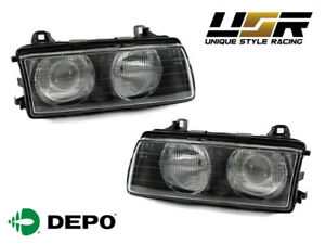 Euro GLASS Hella Style Ellipsoid Projector Headlight by DEPO for E36 3 Series