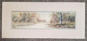 Antique Drawings Matted, Landscape, Listed Artist, Signed, R Senseman