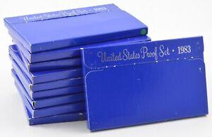 Lot of 10 Sets - 1983-S US Mint Proof Cent Nickel Dime Quarter Half Dollar *0105