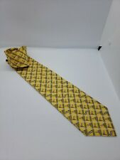 Victory Club B Men's Tie Yellow Windsock Airplanes Flying Airport Plaid