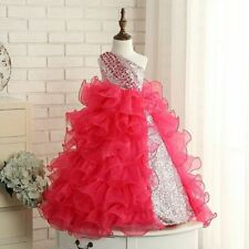 Hot Sales Watermelon Flower Girl Dress Princess Birthday Pageant Communion Gowns
