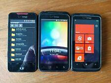HTC Incredible 2, Incredible 1,  HTC Windows Phone, Lot of 3 Phones
