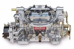 Edelbrock 1406 Performer 600 CFM Electric Choke Carb / Carburettor -Satin Finish