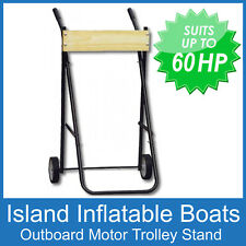 X-LARGE OUTBOARD BOAT MOTOR TROLLEY STAND RATED TO 60HP / 100KG FREE POSTAGE New