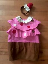 Pottery Barn Kids 2pc Pink Cupcake Halloween Costume size 2-3T Adorable Sweets