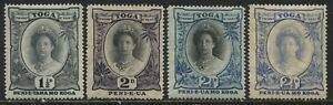 Tonga 1920-35 Queen Salote various values to 2 1/2d mint o.g.