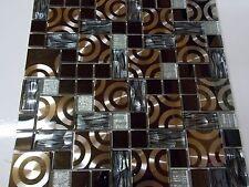 mosaïque Magic 2 pâte de verre carreaux mosaique inox noir argent