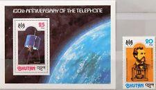 Bhutan 1978 722 a blocco 80 a 242 anni 100 telefono Graham Bell Satellite MNH