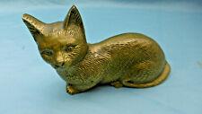 statuette chat en bronze massif