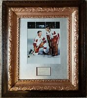 1959 GORDIE HOWE & TERRY SAWCHUK Signed Toronto Hotel Cut DETROIT RED WINGS JSA
