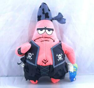 "Patrick Star Pirate 2004 Nanco 10"" Inch Plush Doll Spongebob Squarepants Biker"