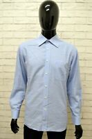 Camicia ROCCO BAROCCO Uomo Taglia 40 (XL) Maglia Shirt Man Cotone Manica Lunga
