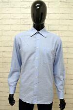 Da Uomo Nuovo Tinta Unita Blu Navy Cotone Colletto Regolare Matrimonio Bracciale singolo Camicia Formale