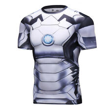 Ironman White Compression Shirt (3D-print) (XXXL)