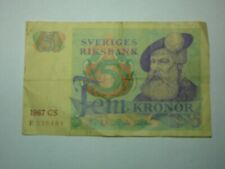 Sweden 5 Kroner Banknote World Paper Money Foreign Currency