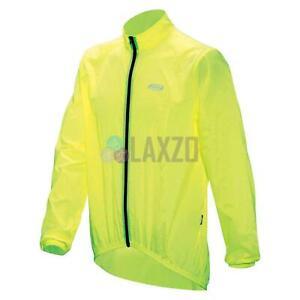 Cycling Jacket Waterproof BaseShield Rainjacket Neon Yellow Small Lightweight