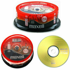 More details for 25 x maxell cd-r 80 mins xl-ii digital audio recordable blank discs in spindle