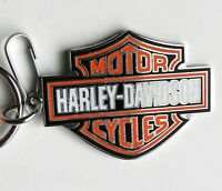 Harley Davidson BAR & SHIELD Metal Enamel Key Ring Keychain Chain 2.1 inches