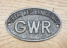 GWR Great Western Railway - Cast Iron Vintage Style Oval Plaque - Door Sign