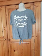 LADIES SUPERDRY GREY T SHIRT L