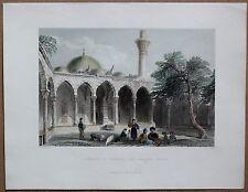 1838 Bartlett print MOSQUE AT PAYAS, HATAY; TURKEY (#32)