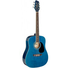 "NEW Stagg SA20D 41"" Full Size Dreadnought Student Acoustic Guitar - Blue"