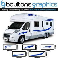MOTORHOME STRIPES - Camper Van Horsebox Caravan RV Decals Sticker Graphic SS1