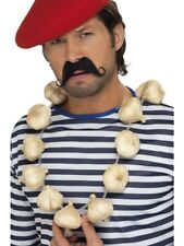 French Garlic Garland String Necklace Adults Novelty Fancy Dress Accessory