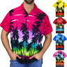 Men's Summer Hawaiian Beach Blouse Casual Shirt Print Short Sleeve Top Shirt