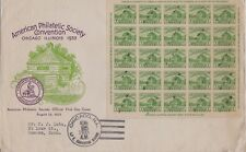 USA 1933 FIRST DAY COVER /SOUVINER SHEET AM. PHILATELIC SOCIETY FT. DEARBORN